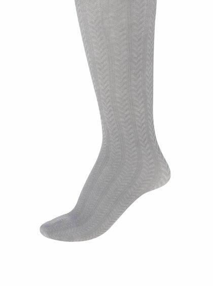 Ciorapi gri cu torsade name it Kabel pentru fete