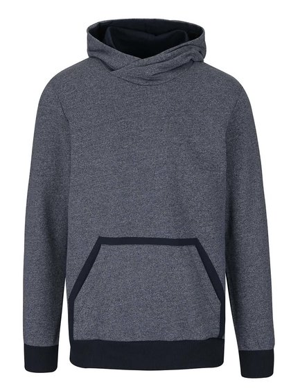Hanorac albastru Jack & Jones Wallen cu model discret
