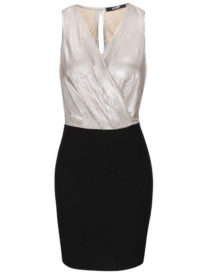Rochie neagră Haily´s Shirley cu detalii metalice