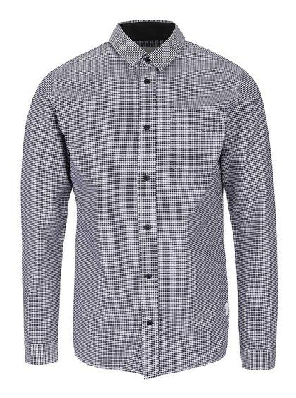 Bílo-černá kostkovaná košile Jack & Jones Charlie