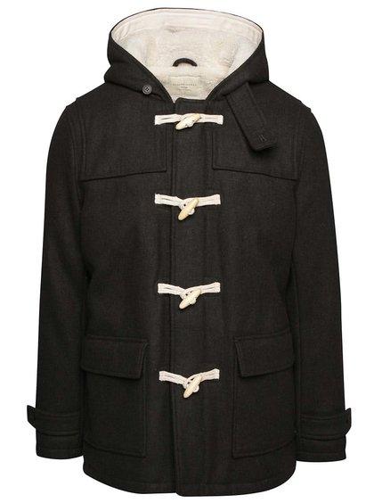 Tmavě zelený vlněný kabát s kapucí Selected Homme Carlyle