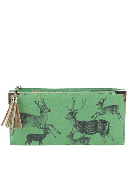 Zelená peňaženka s potlačou Disaster
