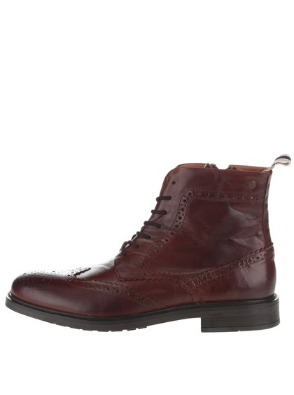 Ghete Brogue maro Jack & Jones Hugh din piele