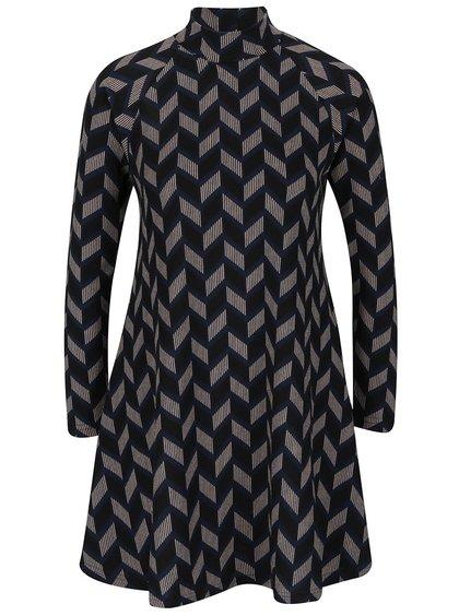 Tmavomodré vzorované šaty AX Paris