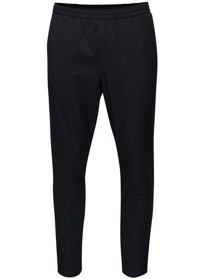 Pantaloni bleumarin Selected Homme Key cu talie elastică