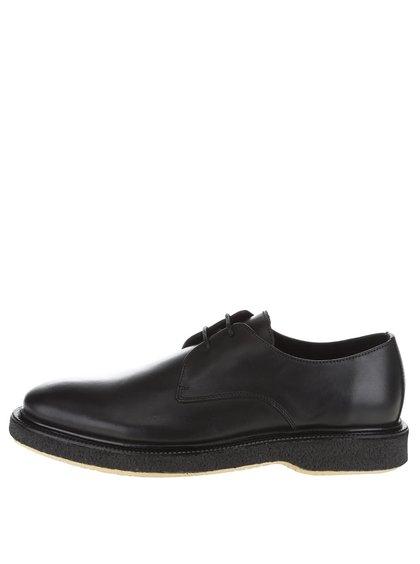 Pantofi negri Selected Homme Last din piele