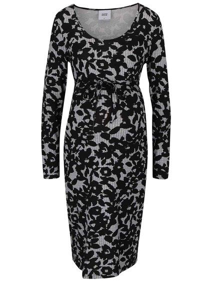 Čierne vzorované tehotenské šaty Mama.licious Shady