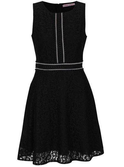 Čierne čipkované šaty Trollied Dolly Twiggy
