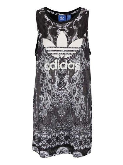 Šedé vzorované šaty adidas s logem Originals Pavao
