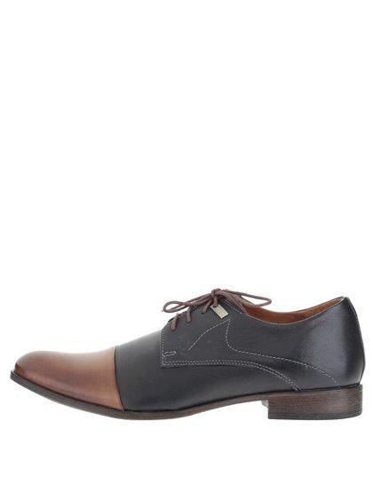 Pantofi albastru ultramarin OJJU cu detalii maro pentru bărbați