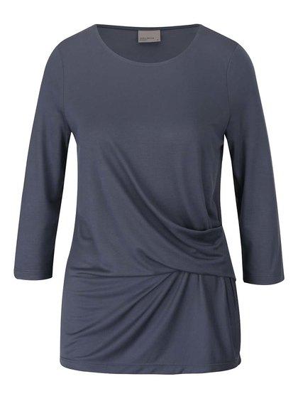 Bluză gri închis VERO MODA Monica cu mâneci trei sferturi