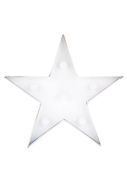 Bílá svítící LED dekorace ve tvaru hvězdy Dakls