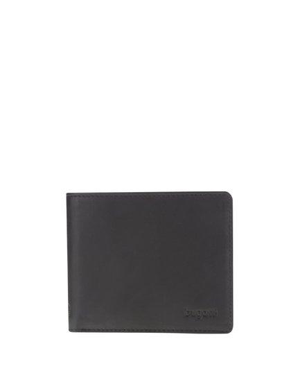 Čierna pánska kožená menšia peňaženka bugatti Primo