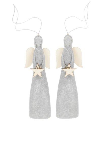Sada dvou andělíčků s hvězdou Dakls