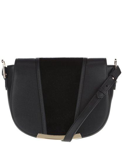 Černá crossbody kabelka s detaily ve zlaté barvě LYDC