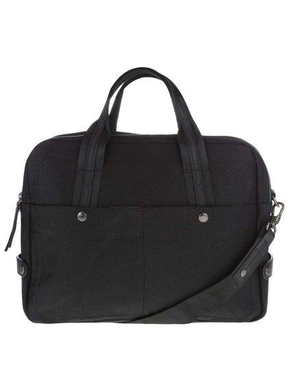 Černá pánská taška na notebook bugatti Lino
