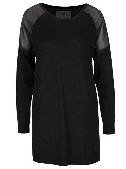 Čierny dámsky tenký sveter Desires Givara