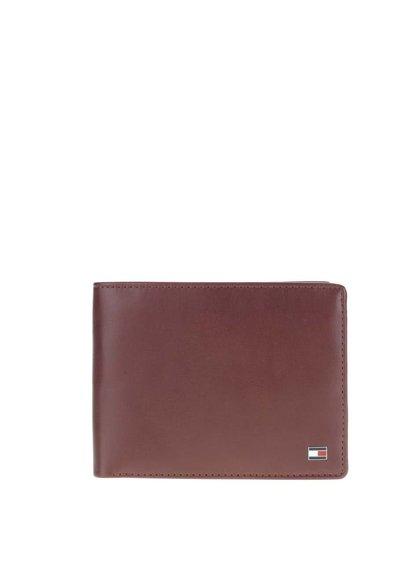 Tmavohnedá kožená pánska peňaženka Tommy Hilfiger