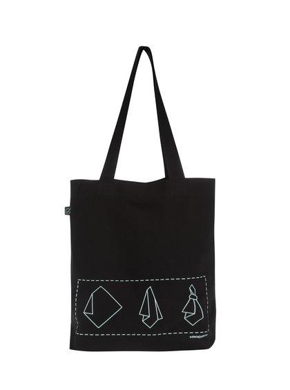 """""""Dobrá"""" černá plátěná taška Mamma HELP"""