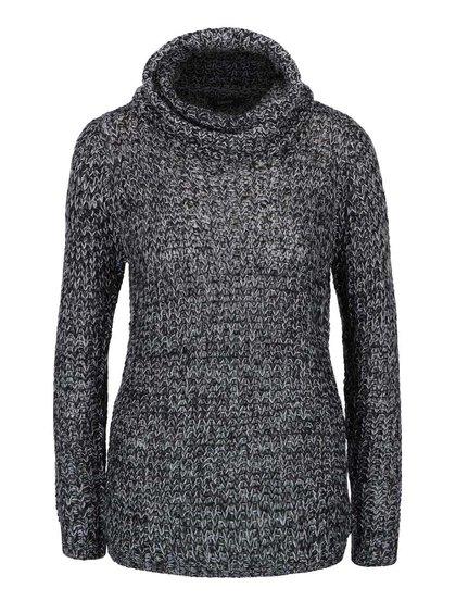 Krémovo-čierny sveter s rolákom Mimei b.young