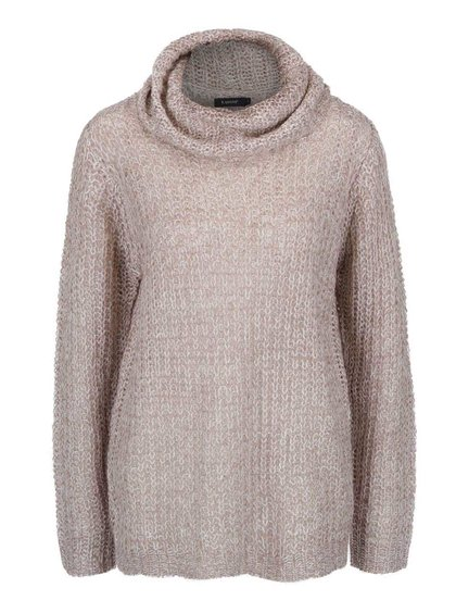 Krémovo-béžový sveter s rolákom Mimei b.young