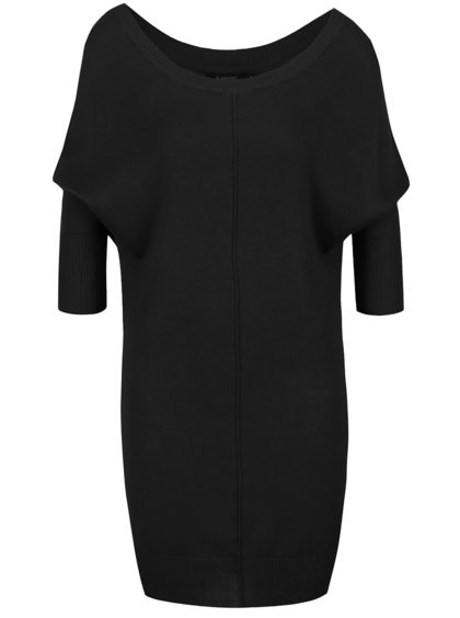 Černý dlouhý svetr s netopýřími rukávy b.young