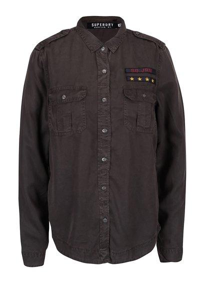 Tmavě šedá dámská košile Superdry Military