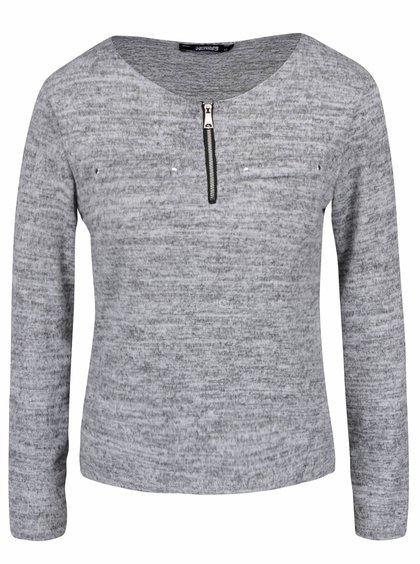 Světle šedé žíhané tričko s dlouhým rukávem Haily´s Mabel