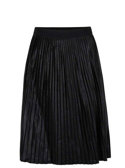Čierna koženková plisovaná sukňa ZOOT