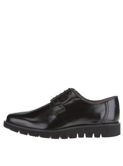 Pantofi negri Frank Wright Manfred pentru bărbați