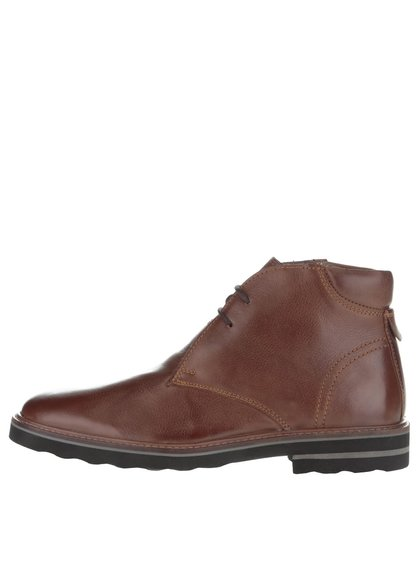 Hnědé kožené pánské kotníkové boty Frank Wright Elwood