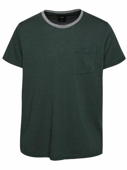 Tmavě zelené triko se vzorem Burton Menswear London