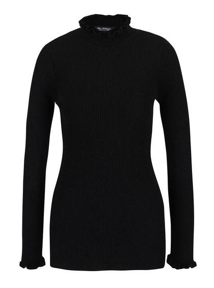 Černý svetr s rolákem Miss Selfridge