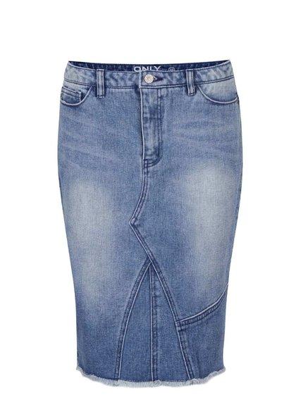 Modrá džínová sukně s ozdobným zipem ONLY Denim