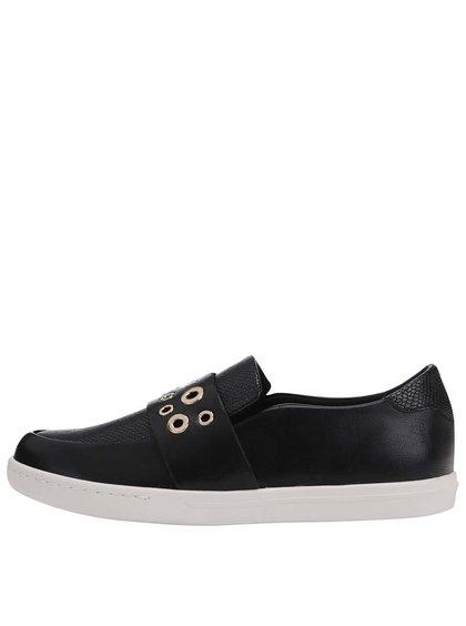 Pantofi din piele negri cu detalii metalice ALDO Satch