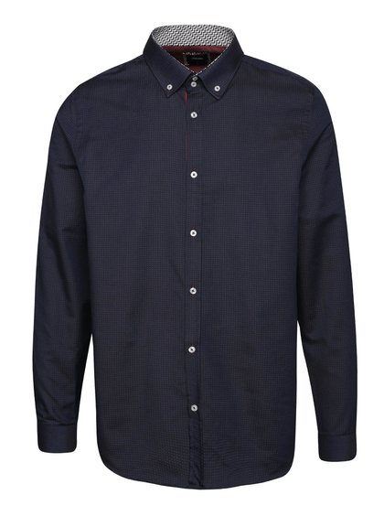 Tmavomodrá košeľa s jemným vzorom Burton Menswear London