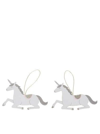 Set 2 decorațiuni unicorn Sass & Belle