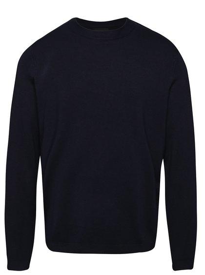 Pulover albastru închis Burton Menswear London
