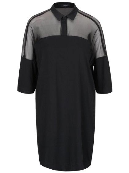 Čierne šaty s priesvitnými ramenami Alchymi Joya