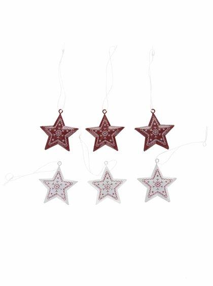 Sada šesti plechových ozdob ve tvaru hvězd Sass & Belle