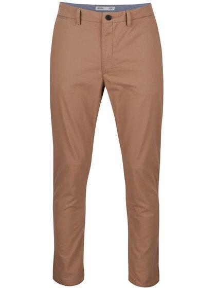 Světle hnědé chino kalhoty Burton Menswear London