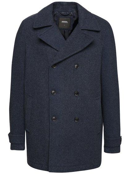 Pardesiu bleumarin Burton Menswear London cu buzunare laterale