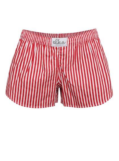 Bílo-červené dámské pruhované trenýrky El.Ka Underwear
