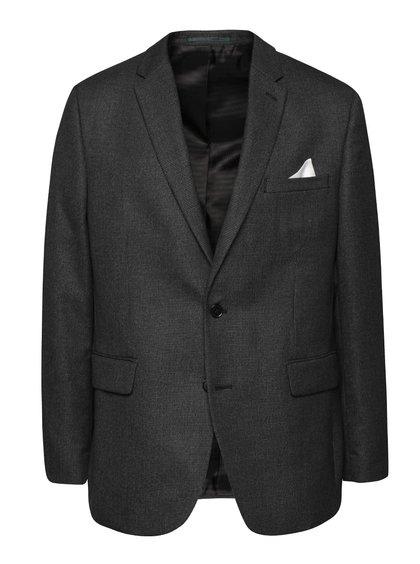 Tmavě šedé vzorované sako Burton Menswear London