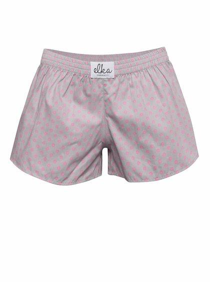 Šedé dámské trenýrky s růžovými puntíky El.Ka Underwear