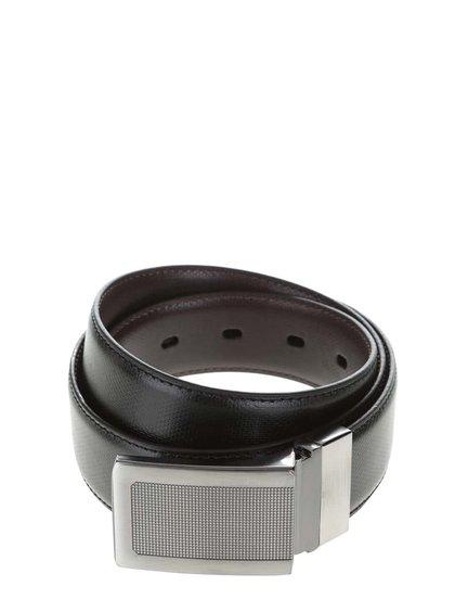 Černý pásek s jemným vzorem Burton Menswear London
