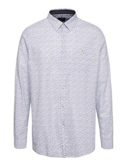 Svetlomodrá košeľa s kvetovaným vzorom Burton Menswear London
