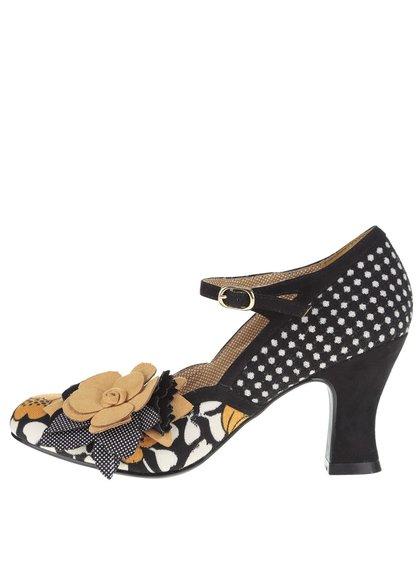 Pantofi negru-galben Ruby Shoo Dee cu accesoriu