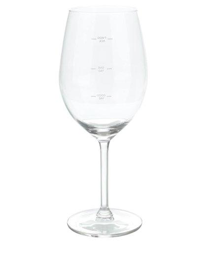 Pohár na víno s ryskami Donkey Glass Of Moods