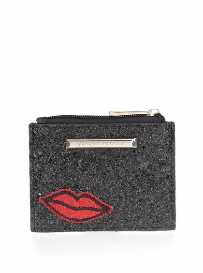 Černá malá peněženka s flitry Dorothy Perkins